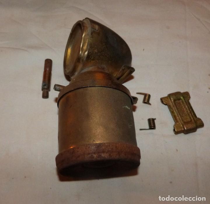 CARBURERO DE BICICLETA JMPEX, INCOMPLETO (Antigüedades - Iluminación - Faroles Antiguos)