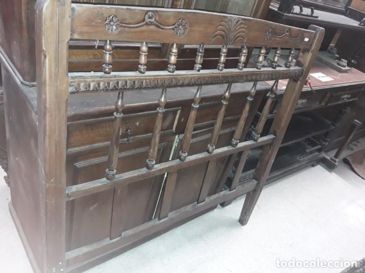 CABECERO CAMA RUSTICO (Antigüedades - Muebles Antiguos - Camas Antiguas)