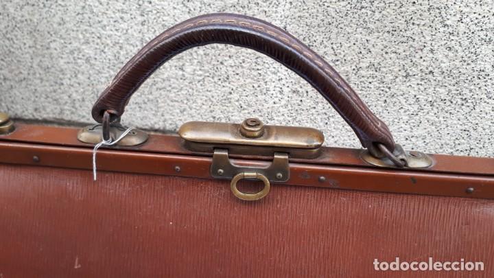 Antigüedades: BOLSO DE MÉDICO TAMAÑO PEQUEÑO - Foto 4 - 212792295