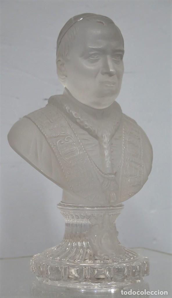 ANTIGUO BUSTO DE S.S PIVS IX. CRISTAL BACCARAT (Antigüedades - Cristal y Vidrio - Baccarat )