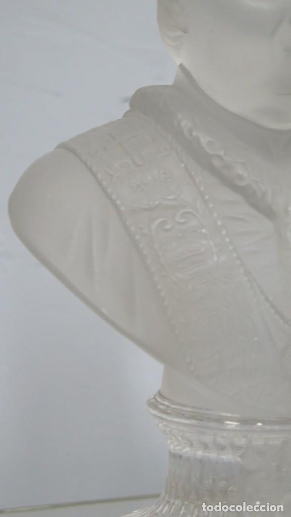 Antigüedades: ANTIGUO BUSTO DE S.S PIVS IX. CRISTAL BACCARAT - Foto 2 - 212806891
