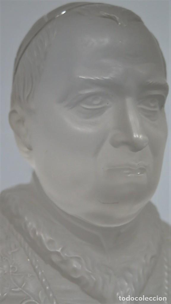 Antigüedades: ANTIGUO BUSTO DE S.S PIVS IX. CRISTAL BACCARAT - Foto 4 - 212806891