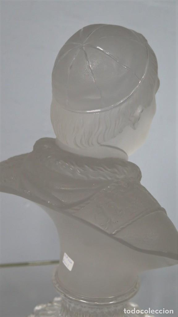 Antigüedades: ANTIGUO BUSTO DE S.S PIVS IX. CRISTAL BACCARAT - Foto 5 - 212806891
