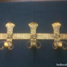 Antigüedades: PERCHERO HIERRO FORJA DORADO. Lote 212812367