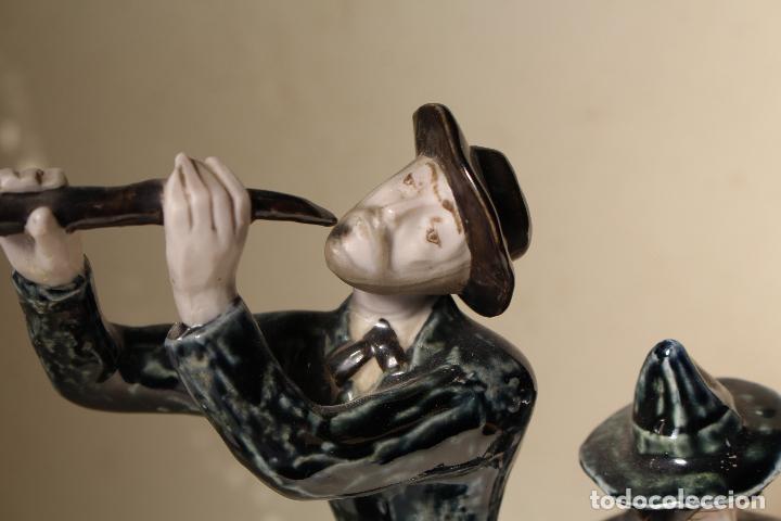 Antigüedades: FIGURA MUSICOS PORCELANA VICTOR DE NALDA VALENCIA - Foto 2 - 268862949