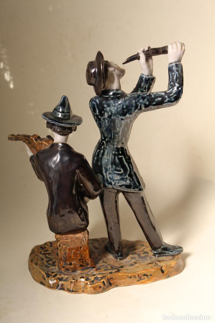 Antigüedades: FIGURA MUSICOS PORCELANA VICTOR DE NALDA VALENCIA - Foto 7 - 268862949