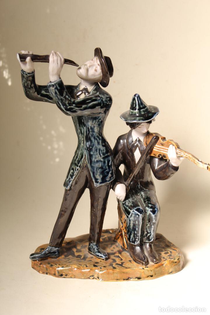 Antigüedades: FIGURA MUSICOS PORCELANA VICTOR DE NALDA VALENCIA - Foto 8 - 268862949