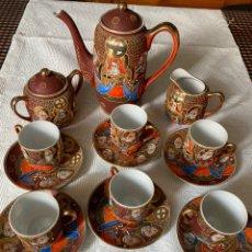 Antigüedades: JUEGO 6 SERVICIOS PORCELANA JAPONESA SATSUMA. Lote 212848860