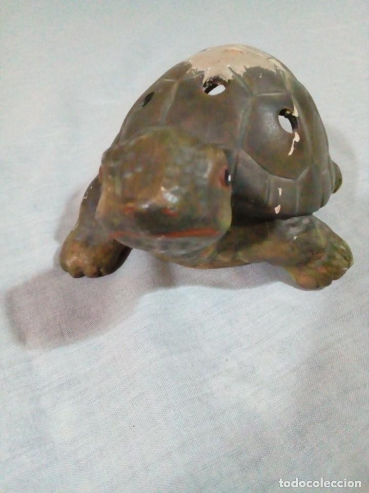 Antigüedades: portavelas en forma de tortuga - Foto 2 - 212874880