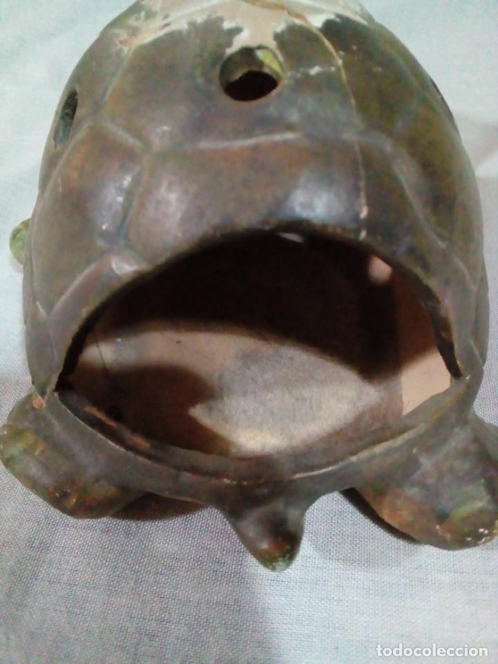 Antigüedades: portavelas en forma de tortuga - Foto 4 - 212874880
