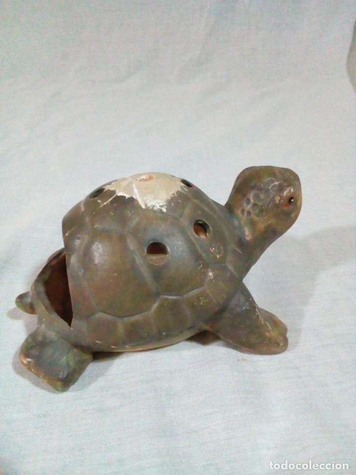 Antigüedades: portavelas en forma de tortuga - Foto 6 - 212874880