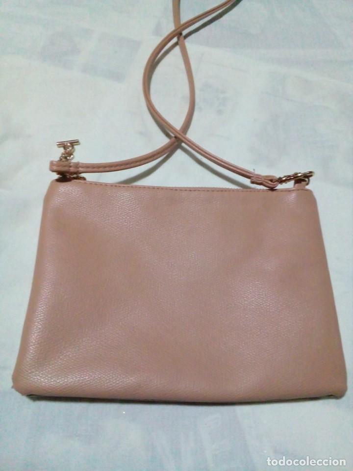 Antigüedades: bonito bolso color beige nuevo - Foto 2 - 212878630