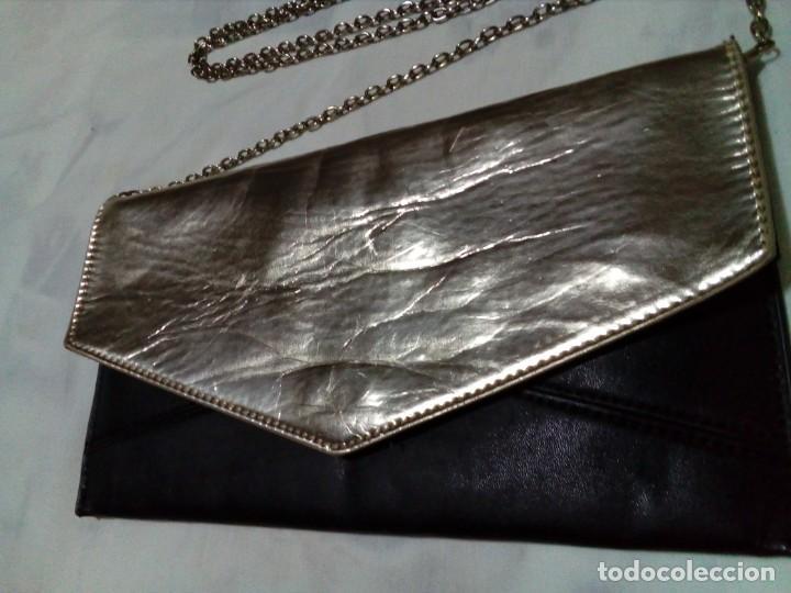 Antigüedades: elegante bolso de negro y oro - Foto 2 - 212878701