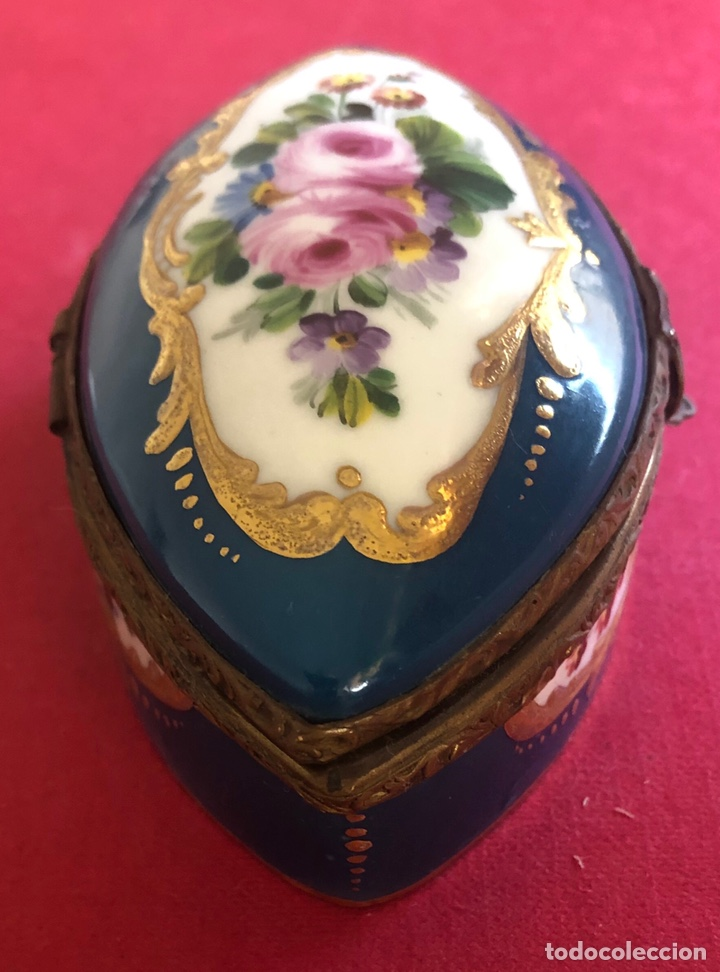 Antigüedades: Antigua caja de porcelana Francesa, de colección. - Foto 5 - 212900052