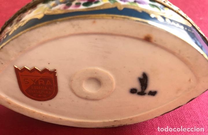 Antigüedades: Antigua caja de porcelana Francesa, de colección. - Foto 9 - 212900052