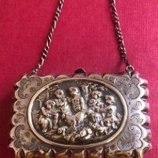 Antiquités: EXQUISITO BOLSO-CARNET DE BAILE, EN PLATA DE LEY. Lote 212905292