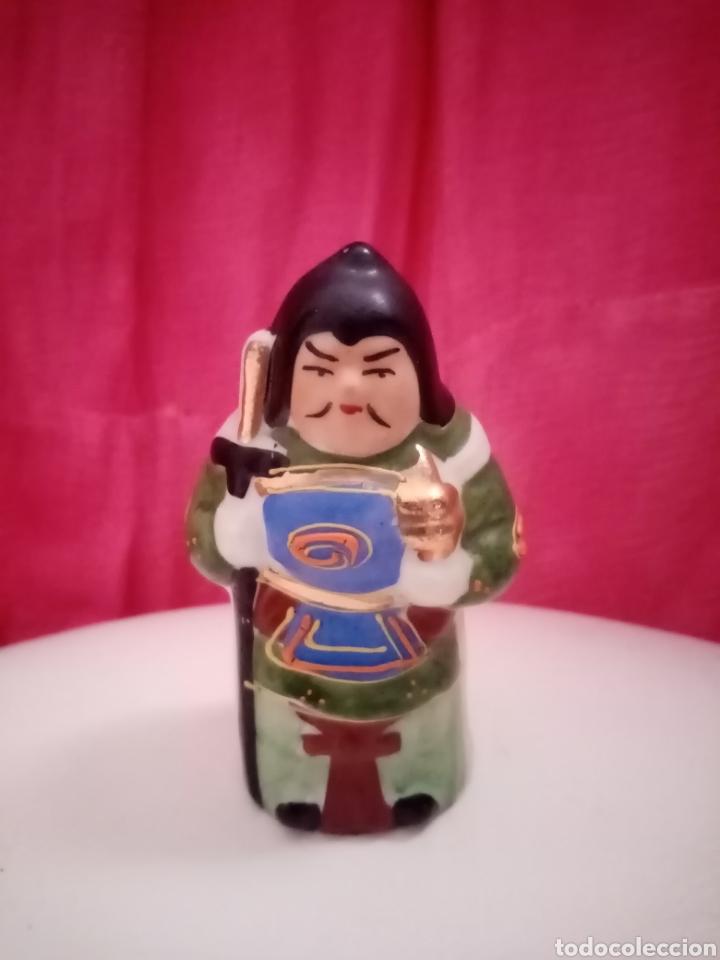 Antigüedades: Dios Bishamonten, figura. Japón. Dios de la fortuna, la guerra y castigador del mal. Deidad, sabio - Foto 3 - 212907097