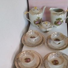 Antigüedades: MAGNIFICO JUEJO DE CAFE OU THE PLATOS DE POSTRE BAVARIA CONSTANZE 20 HECHO PINTADO A MANO. Lote 212911143