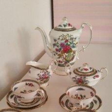Antigüedades: PRECIOSO JUEGO DE CAFE EXPRESSO MADE INGLANDE PARAGON H.M.QUEEN ELIZABETH. Lote 212912783