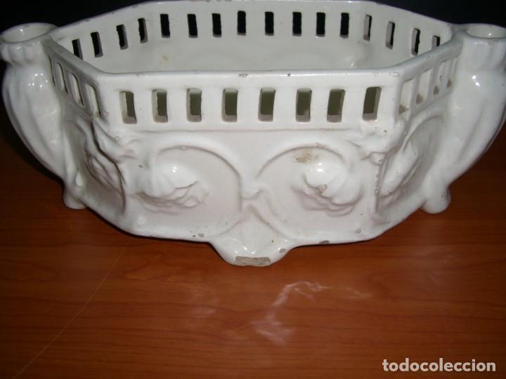 Antigüedades: PEQUEÑA JARDINERA EN CERÁMICA - Foto 3 - 212929142
