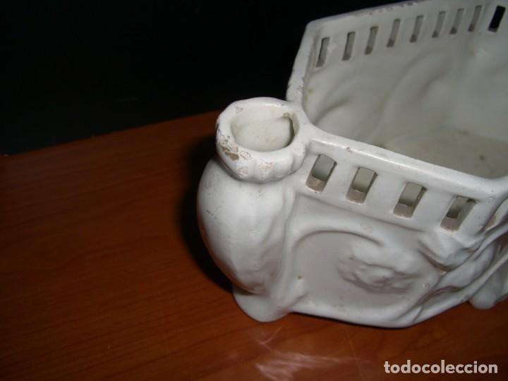 Antigüedades: PEQUEÑA JARDINERA EN CERÁMICA - Foto 5 - 212929142