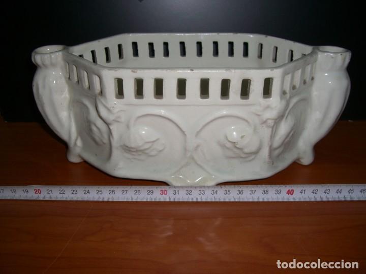 Antigüedades: PEQUEÑA JARDINERA EN CERÁMICA - Foto 7 - 212929142