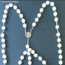 Antigüedades: ROSARIO DE PLATA Y NACAR. INICIALES A M. Lote 212944001