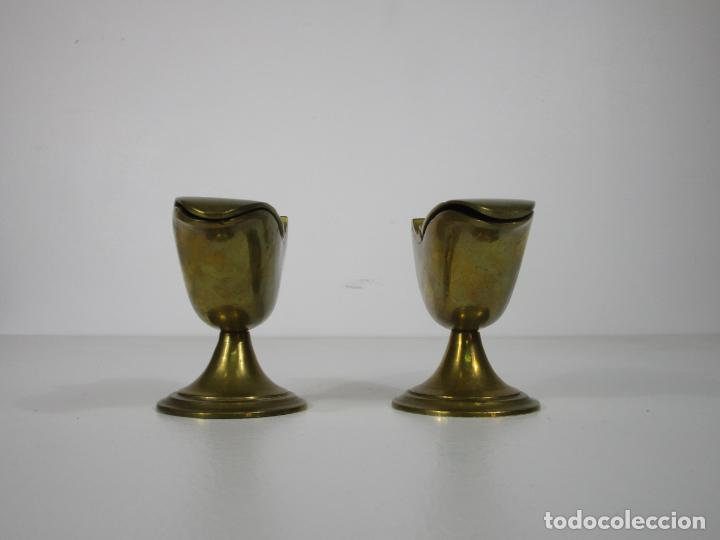 Antigüedades: Antigua Pareja de Navetas - Naveta en Bronce - Incienso, Liturgia - S. XVIII-XIX - Foto 2 - 212972388