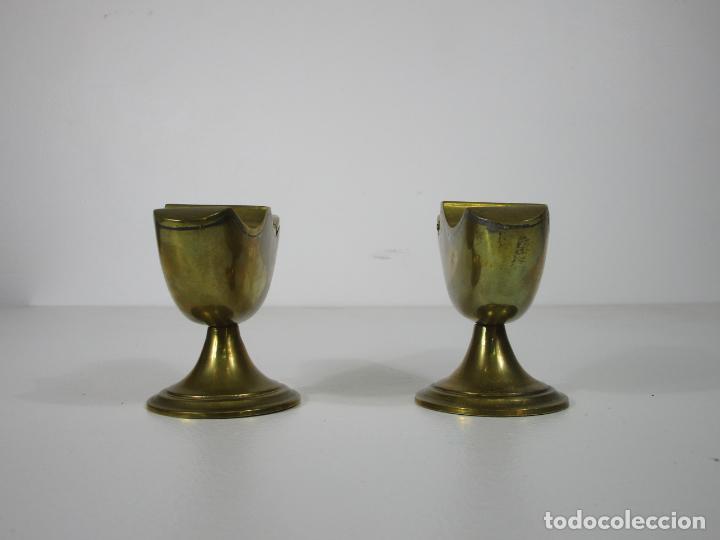 Antigüedades: Antigua Pareja de Navetas - Naveta en Bronce - Incienso, Liturgia - S. XVIII-XIX - Foto 8 - 212972388