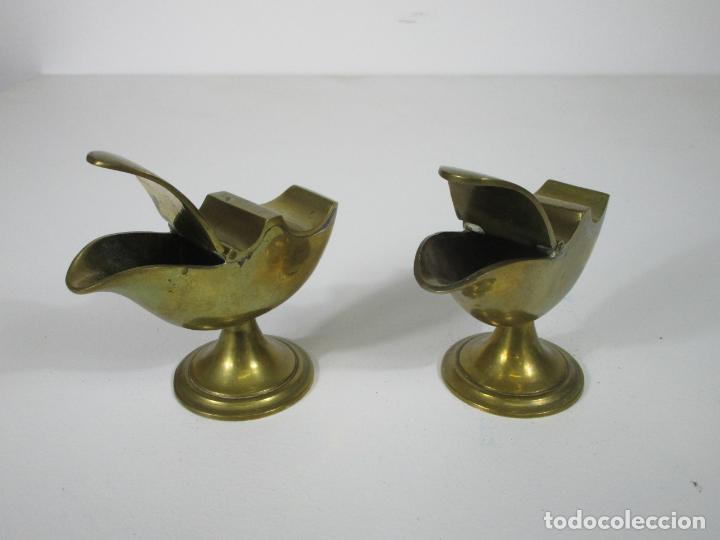 Antigüedades: Antigua Pareja de Navetas - Naveta en Bronce - Incienso, Liturgia - S. XVIII-XIX - Foto 10 - 212972388