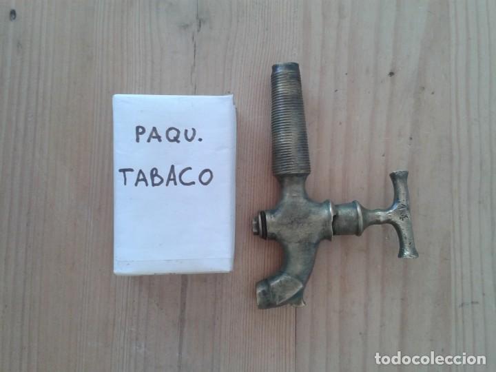 Antigüedades: ANTIGUO GRIFO BRONCE TONEL BARRICA BOTA 14 - Foto 5 - 212991341
