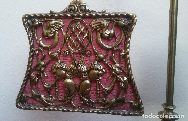 Antigüedades: ANTIGUA LÁMPARA DE BRONCE 4 LUCES TIPO VELÓN, GRAN DECORACIÓN, CABALLERO CON ARMADURA. - Foto 5 - 212994860