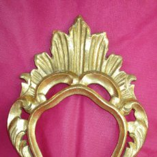 Antiquités: ESPEJO CORNUCOPIA MADERA XIX TALLADO Y DORADO ORIGINAL. Lote 213024378