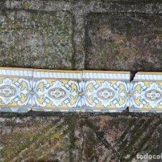Antigüedades: 4 AZULEJOS CERÁMICA CENFA S XIX XX. Lote 213028530