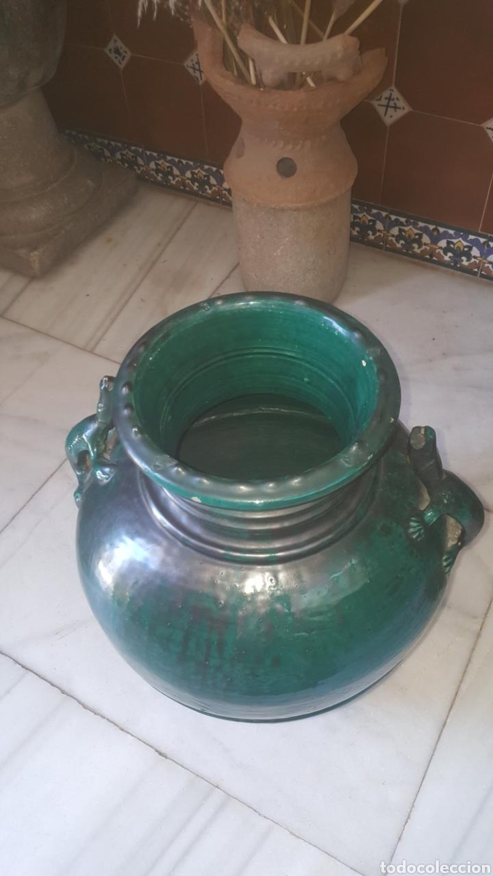 Antigüedades: anfora bañada en verde con asas de lagarto - Foto 2 - 213040797
