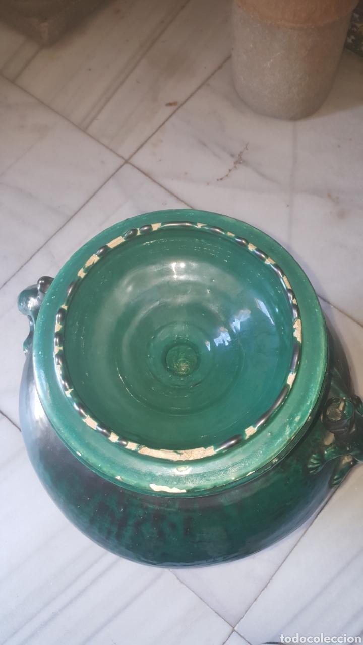 Antigüedades: anfora bañada en verde con asas de lagarto - Foto 5 - 213040797