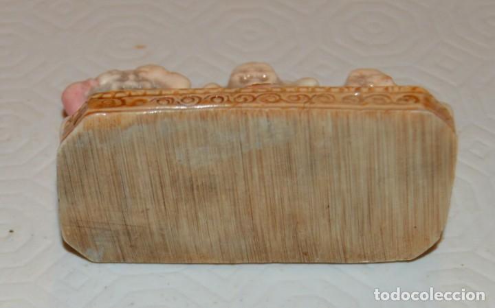 Antigüedades: OIR, VER Y CALLAR - PEQUEÑA FIGURA TIPO NETSUKE - 3 MONJES - Foto 5 - 213043586