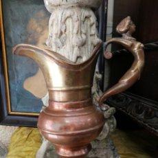 Antigüedades: JARRA ANTIGUA DE BRONCE Y COBRE. 30CM. Lote 213068542