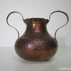 Antigüedades: ANTIGUA JARRA - COBRE - CON ASAS - MUY DECORATIVA. Lote 213098098