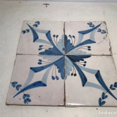 Antigüedades: ANTIGUOS AZULEJOS, RAJOLAS CERAMICA CATALANA SIGLO XIX.. Lote 213130990