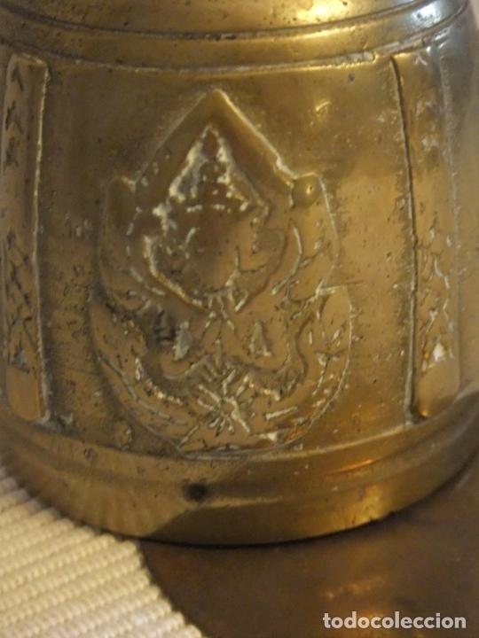 Antigüedades: ANTIGUA CAMPANA DE BRONCE DE LA INDIA/TIBET - Foto 4 - 213133026