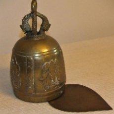 Antigüedades: ANTIGUA CAMPANA DE BRONCE DE LA INDIA/TIBET. Lote 213133026