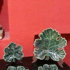 Antigüedades: ANTIGUA CERAMICA ESMALTADA VERDE PRINCIPIOS SIGLO XX. Lote 213142495