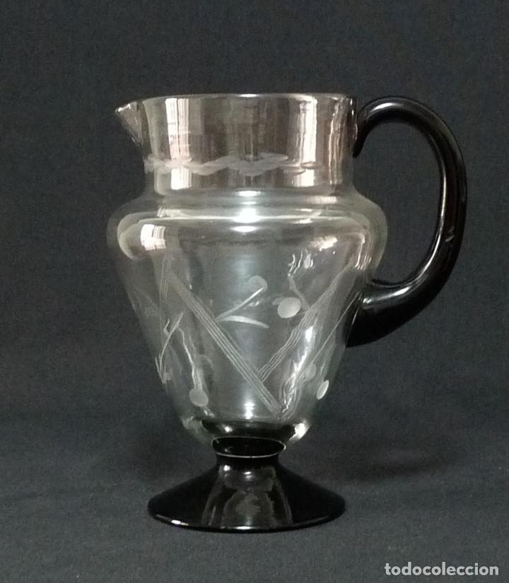 JARRA DE CRISTAL DE LA FABRICA DE CARTAGENA. (Antigüedades - Cristal y Vidrio - Santa Lucía de Cartagena)