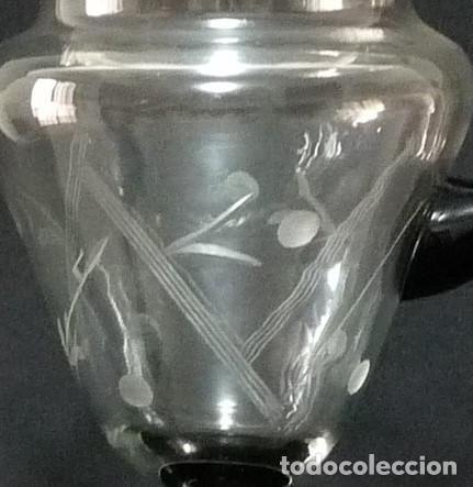 Antigüedades: Jarra de cristal de la fabrica de Cartagena. - Foto 2 - 213143565