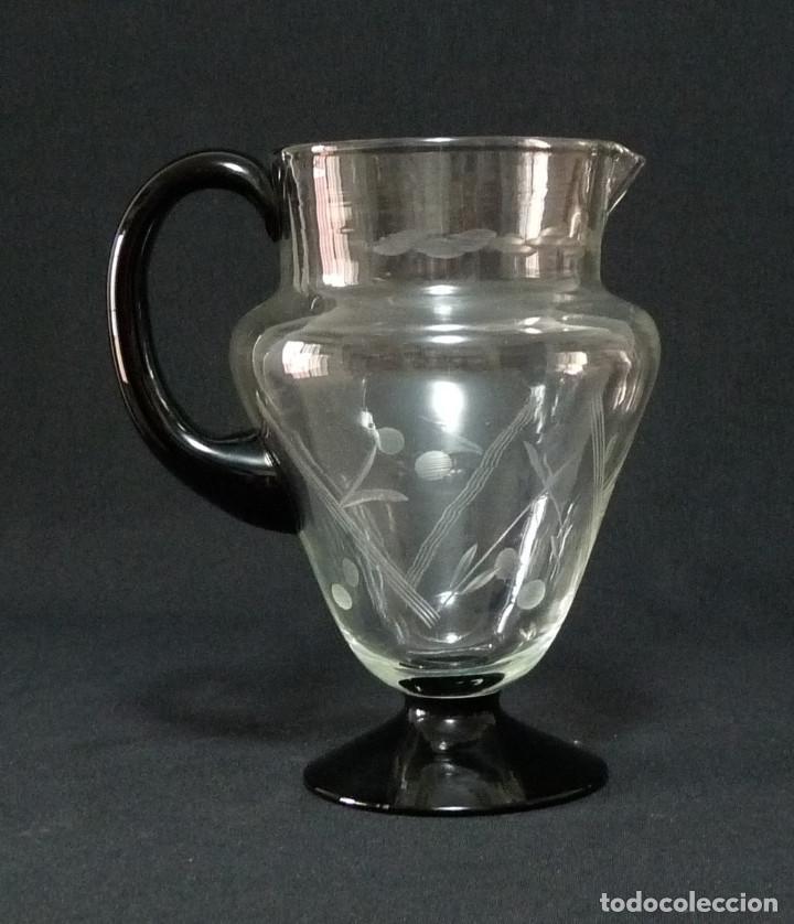 Antigüedades: Jarra de cristal de la fabrica de Cartagena. - Foto 4 - 213143565