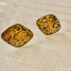 Antigüedades: GEMELOS ( AÑOS 70 ) PERÚ VIKY 925 18K. Lote 213144198