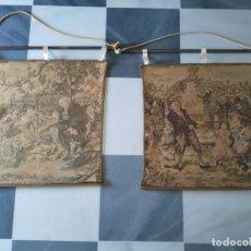 Antigüedades: ANTIGUA PAREJA DE TAPICES. Lote 213220071