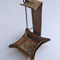 Antigüedades: CANDIL DE HOJALATA. Lote 213228482