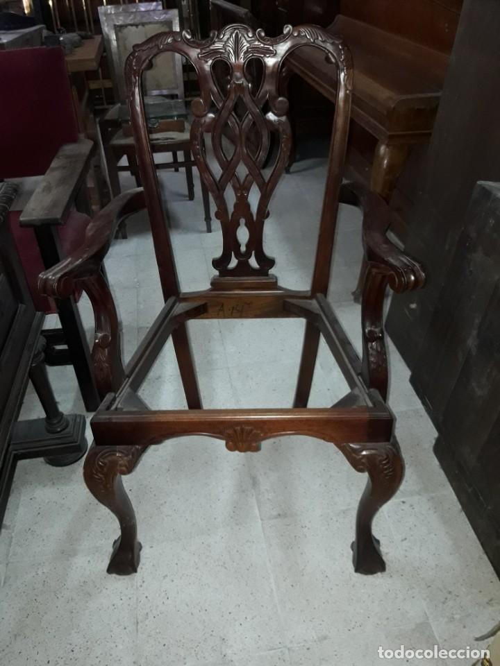 SILLÓN ESTILO CHIPENDAL (Antigüedades - Muebles Antiguos - Sillones Antiguos)